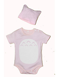 Newborn Baby Clothes Summer With Hat Infant Girls Rompers Short-sleeve Suits