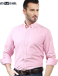 JamesEarl Men's Shirt Collar Long Sleeve Shirt & Blouse Pink - M81XF001201