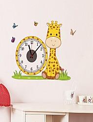 CD Clock Wall Stickers The Giraffe Latest Large Creative Alarm Clock