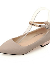 Women's Shoes  Low Heel Pointed Toe Flats Office & Career / Dress / Casual Pink / Gray / Beige