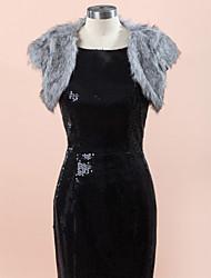 Wedding / Party/Evening Faux Fur Vests Sleeveless Wedding  Wraps / Fur Vests