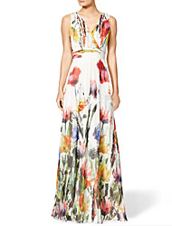 Women's Sexy Beach Casual Party Sleeveless Print Maxi Dress