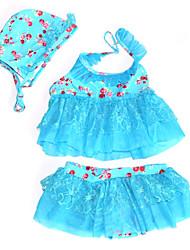 Korean Fashion Baby Girls Swimsuit Two Piece With Hat Little Girl Toddler Swimwear Swimming Wear