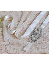 Satin Hochzeit / Party / Abend / Alltagskleidung Schärpe-Pailletten / Perlstickerei / Applikationen / Perlen / Strass Damen 250cm
