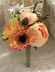Wedding Flowers Free-form Roses / Peonies Boutonnieres