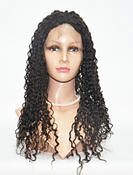 "10""-26"" Peruvian Virgin Hair Kinky Curly Lace Wig Lace Front /Full Lace Wigs for Women"