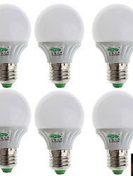 zweihnder® 6st E27 3W 280lm 3000-3500K 10x2835 SMD warm licht lamp lamp (100-240v)