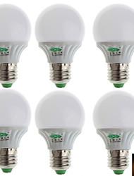 Zweihnder® 6Pcs E27 3W 280LM 3000-3500K 10x2835 SMD Warm Light Bulb Lamp (100-240V)