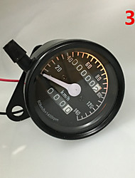 Motorcycle Universal Dual Odometer Night Light Speedometer