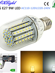YouOKLight® 1PCS E27 9W 800lm 90-3528SMD 3000K/6000K High brightness &long life 45,000H LED Light AC110-120V/220-240V