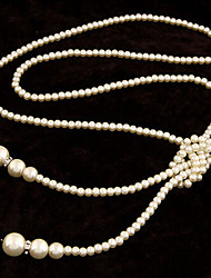 New Arrival Fashion Jewelry Rhinestone Long Pearl Necklace