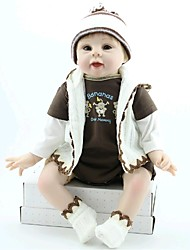 NPKDOLL Reborn Baby Doll Soft Silicone 22inch 55cm Magnetic Mouth Lovely Cute Toy Boy Sports
