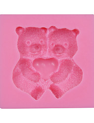 Valentine's Gift Cute Bear Fondant Silicone Mold Cake Chocolate Candy Bakeware SM-030