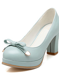 Women's Shoes Chunky Heel Heels / Platform / Round Toe Heels Party & Evening / Dress / Casual Blue / Pink / White