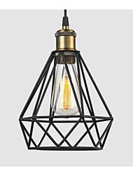 Industrial Wire CAGE PENDANT LIGHT Cafe Loft Warehouse Lighting Black Cord E27/E26
