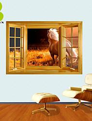 """Animais / Botânico / Romance / Paisagem Wall Stickers Autocolantes 3D para Parede , PVCL:85cmX127cmX0.3cm(33.5""""X50.0""""X0.1"""");M:"""