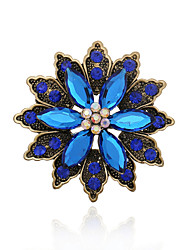 Acrylic / Alloy / Rhinestone Brooch /Retro Brooch  Wedding / Party 1pc