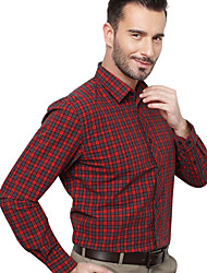 JamesEarl Herren Hemdkragen Lange Ärmel Shirt & Bluse Rot - MB1XC000201