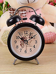 Nostalgia Creative Bell Alarm Clock Ringing Big Lazy Student With Light Mute Clock