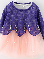 Girl's Green Color Kids Apparel , Clothing Style Fabric Season