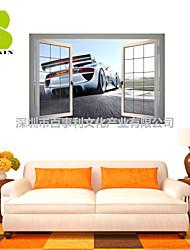 """Romance / De moda / Paisaje / Transporte / Ocio Pegatinas de pared Calcomanías 3D para Pared , PVCL:85cmX127cmX0.3cm(33.5""""X50.0""""X0.1"""");M:"""