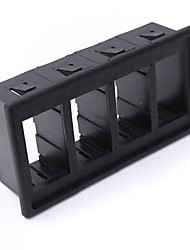 Iztoss 4 Black Plastic Rocker Switch Clip Panel Holder Housing ARB Carling Type