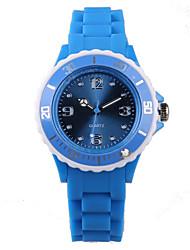 Fashion Blue Silicone Ladies Watch
