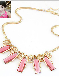 MISSING U Party / Casual Alloy / Gemstone & Crystal Statement Necklace