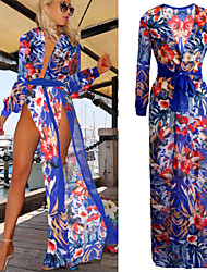 Women's Sexy Beach Casual Party Split Maxi Dress