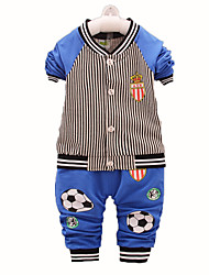 Boy's Cotton Clothing Set,Fall / Spring Striped