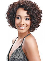 Ms African Multi-color Wig Fashion Style High Temperature Wire Short Curly Hair Wig