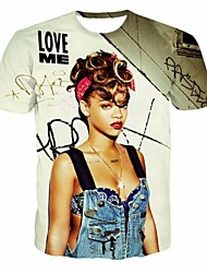 Sexy girl 3 d man short sleeve T-shirt