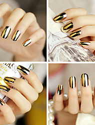 3pcs/set Metal Nail Stickers