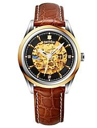 homens bestdon auto-liquidação relógio 100m impermeável turbilhão cristal de aço e 40 milímetros de couro relógio automático