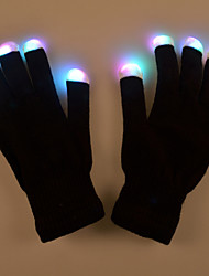 Valentine'S Day Gift Creative The Glow Gloves Costumes Colorful Light Makeup Glove Prop Performance Lamp Light Led