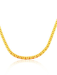 Necklace Chain Necklaces Jewelry Wedding / Party / Daily / Casual Fashion Gold Plated Gold 1pc Gift