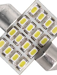 LED Car Interior light 12V White 3528SMD 16 LEDs car Dome Bulb Lamp 31mm(2 Pcs)