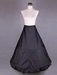 Slips Mermaid and Trumpet Gown Slip / Chapel Train Tea-Length 1 Polyester Black