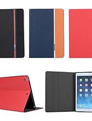 frappé couleur tissé étui à propos ouverte avec une carte de support pour iPad Air / ipad 5 (couleurs assorties)