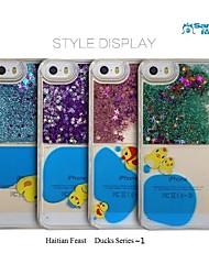 sanlead haitian série de fête canards ~ 1 pc avec de la poudre et fond liquide pour iphone5,5s (couleurs assorties)