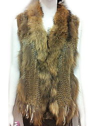 Fur Vest With Sleeveless Shawl Rabbit Fur Casual Vest(More Colors)