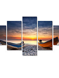 5 Panel Modern Printed Seascape Painting Cuadros Canvas Art  Picture For Living Room Home Product No Frame