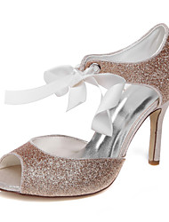 Women's Spring / Summer / Fall Heels Glitter Wedding / Dress / Party & Evening Stiletto Heel Lace-up Champagne
