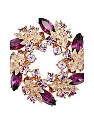 Bling Bling Crystal Rhinestone Gold Plated Chinese Redbud Flower Brooch Pins Jewelry Women Brooches for Scarf
