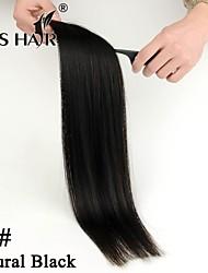 """1b # natural de la piel negro pu trama brasileña del pelo 18 """"fuerte cinta azul en extensiones de cabello humano 20pcs / pack"""