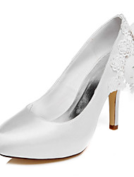 Women's wedding dress shoes / White / BEIGE / high heels