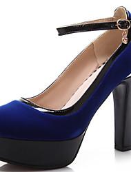 Черный / Синий / Красный - Женская обувь - Для праздника / Для вечеринки / ужина - Дерматин - На толстом каблуке - На платформе -Обувь на