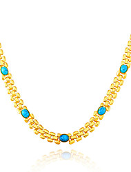 Jewelry Chain Necklaces Wedding / Party / Daily / Casual / N/A Agate / Gold Plated / Emerald / Turquoise 1pc Women Wedding Gifts