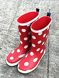 Girls' Shoes Outdoor Rain Boots / Round Toe Rubber Boots Red