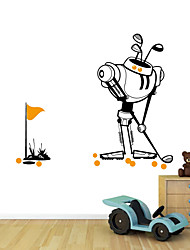 Wall Stickers Wall Decals Style Cartoon Robot Waterproof Removable PVC Wall Stickers
